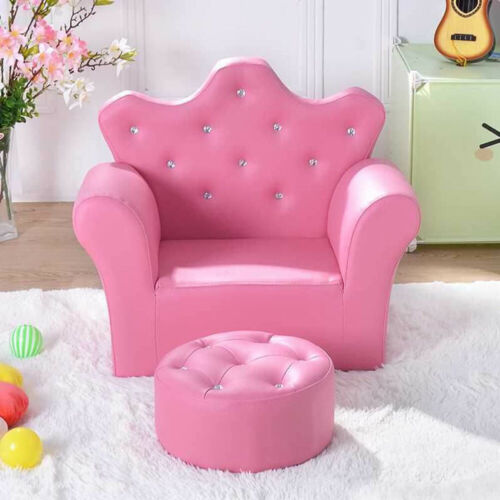 Kids Children's Chairs Upholstered PU Armchairs Bedroom Playroom Cute Comfy Sofa