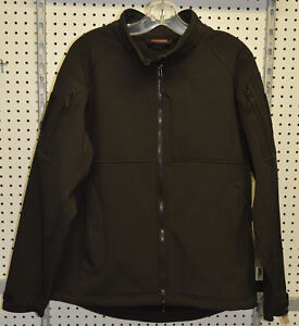 New-softshell-100-polyester-black-jacket-tactical-hicking-large-refbte-79