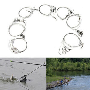 3bags-Stainless-Steel-Fish-Rig-Wire-Leader-5String-Hook-anti-winding-jig-hookME