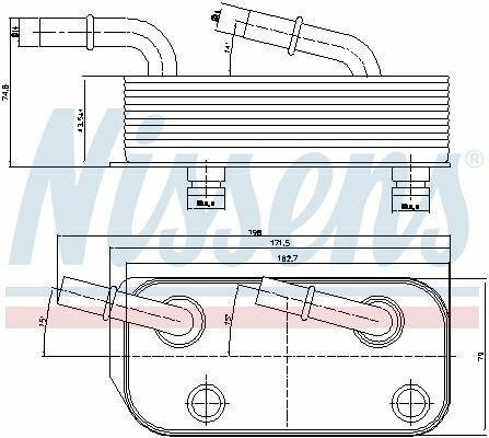 NISSENS Ölkühler Automatikgetriebe 90658 für BMW