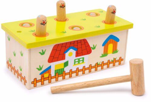 Hau den Wurm aus Holz Motorik Klopfen Klopfbank Klopfspiel Spielzeug für Kinder
