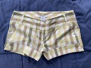 Women's jrs CHARLOTTE RUSSE green plaid shorts, 9