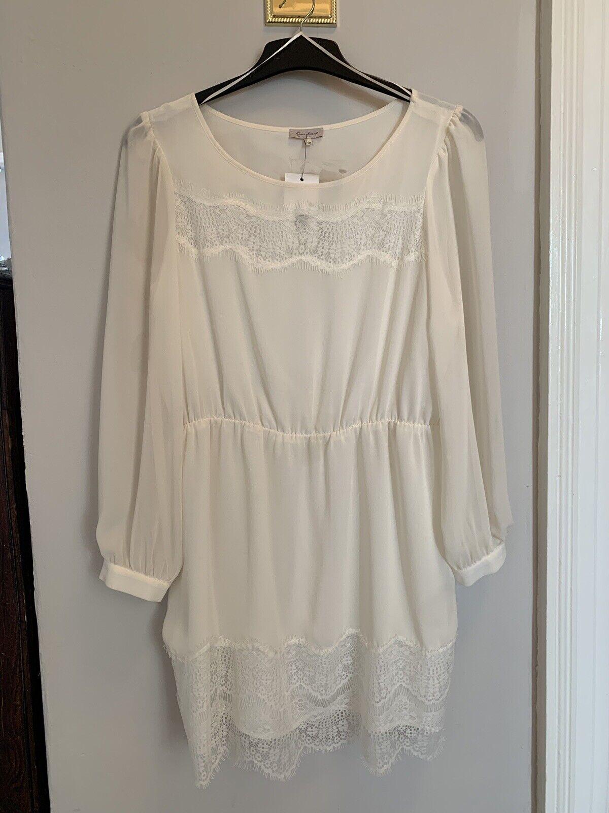 River Island Cream Lace Dress 16 BNWT