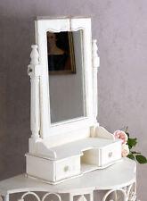 Tisch Spiegel Frisierspiegel im skandinavischen Landhausstil Weiss