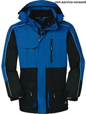 Xl Baujacke Arbeitsjacke Wetterschutz-jacke Denver Blau/schwarz 4-protect