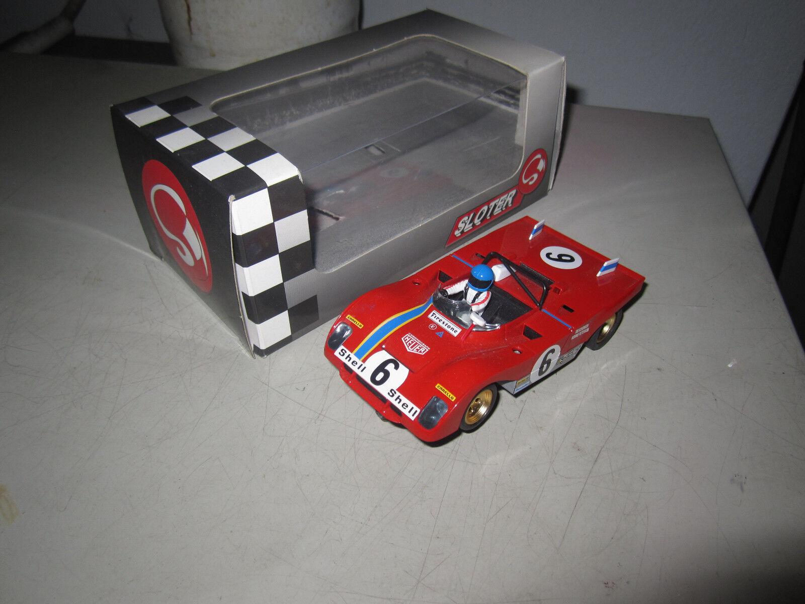 Carrera Universal 132   Ferrari 312 von Sloter OVP und wie neu (umbau)