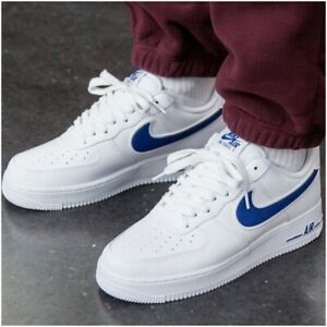 Deluxe-Edition-da-Uomo-Nike-Air-Force-1-Scarpe-da-ginnastica-LIMITED-STOCK-Cobalto-Blu-Bianco