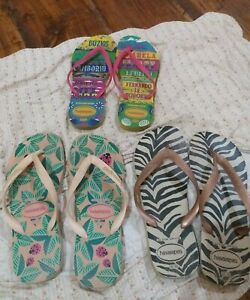 3-authentic-Havainas-Slippers-Size-9-all-in-good-condition-seldom-used