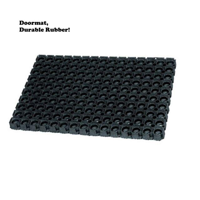 60 X 40cm Door Mat Front Rubber Hole Heavy Duty Outdoor Non Slip New