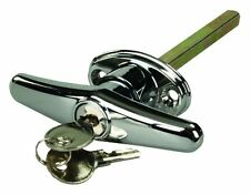 CHROME LOCKING T-HANDLE FOR TRUCK CAPS, BED COVERS, TOOL BOXES!