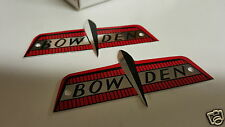 Bowden Bicycle 1960 replacement Bike Badge Set of 2 Aluminum