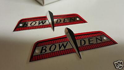 Bowden Fahrrad 1960 Ersatz Motorrad Abzeichen Set 2 Aluminium Agreeable To Taste Modellflugzeuge