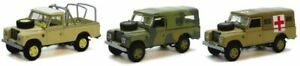 Land-Rover-Defender-3-Piece-Set-Diecast-Model-1-72-Scale-Cararama-NEW