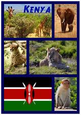 KENYA - SOUVENIR NOUVEAUTÉ AIMANT DE RÉFRIGÉRATEUR - SITES / VILLES - CADEAU -