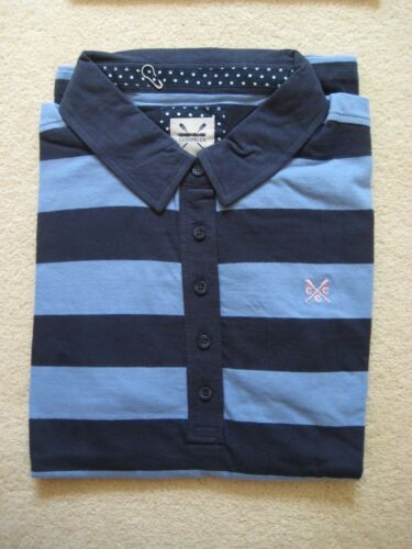 Ladies Ex Crew Clothing Company  Polo Shirt Top size 12 18 stripes