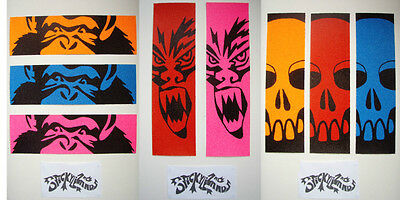 Scooter Grip Tape cut to fit all Decks, 4 Widths 5 Neon Colours 3 Custom Designs