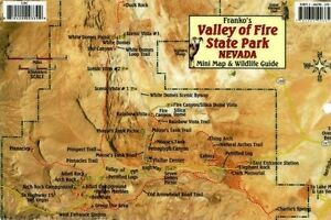 Valley Of Fire Nevada Map Wildlife Guide Laminated Card By Franko