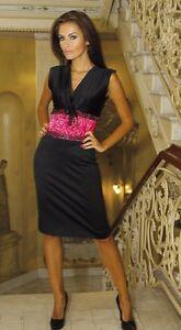 Cocktail-Party-Evening-Ladies-Classic-Floral-Lace-Dress-Size-8-18