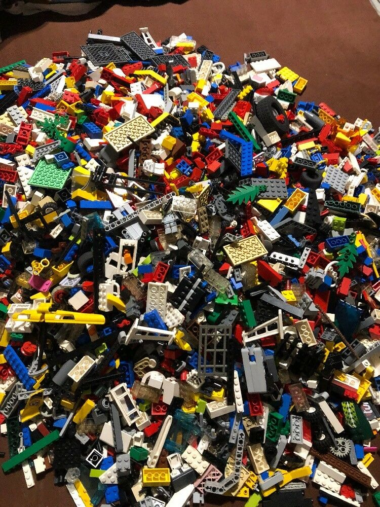 LEGO 3 KG KILO STEINE PLATTEN SONDERTEILE RÄDER TÜREN GEMISCHT FIGUREN