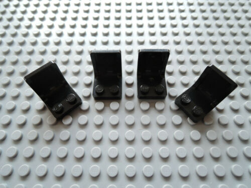 Lego 4 x Sitz Stuhl Autositz 4079 schwarz 2x2