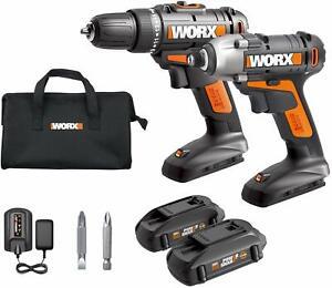 WORX WX944L 20V Powershare Drill & Impact Driver combo Kit