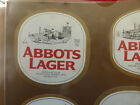VINTAGE AUSTRALIAN BEER LABEL. CARLTON & UNITED - ABBOTS LAGER 750ML 81A
