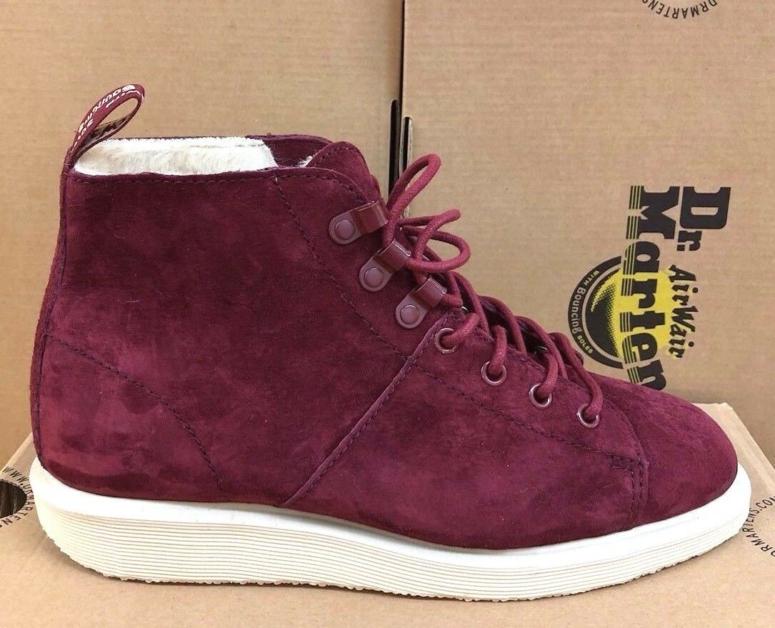 Dr Martens LES BOOT FL WINE SOFT BUCK   SIZE UK 4, EU 37
