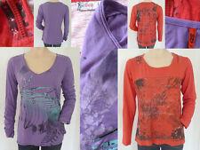 2er Set Girl Shirt Rundhals Langarm bedruckt s.Oliver lila Designers rot 36 XS