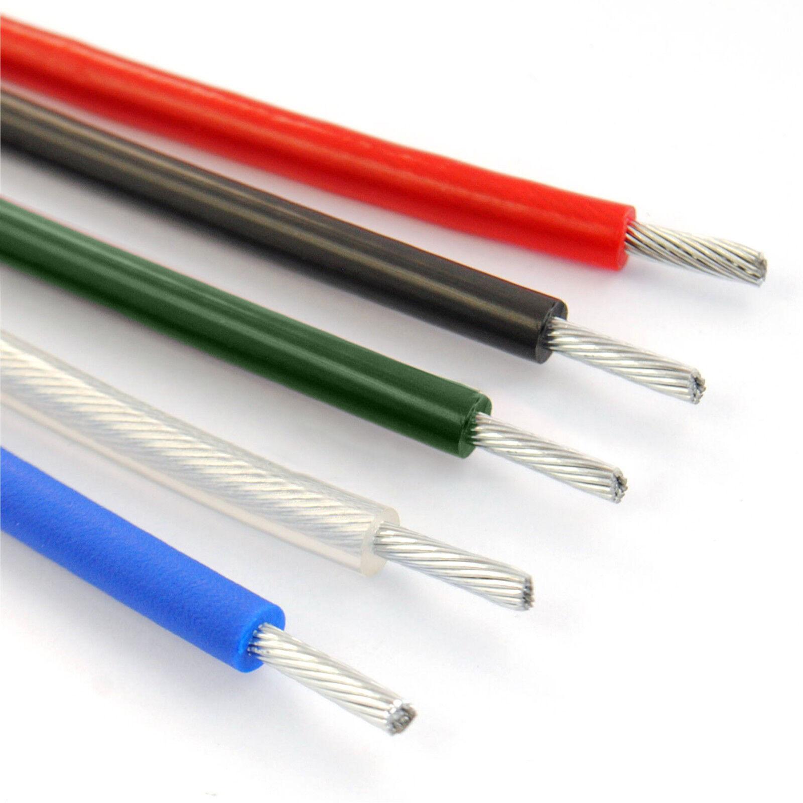 6x19 DRAHTSEIL IN PVC VERZINKT Strang verbinden Strick Stahl galvanisiertes