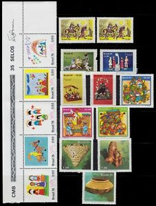 1961-1981-BRAZIL-MINT-NEVER-HINGED-LOT-COMPLETE-SERIES-2-USED-ISUE-2-SCAN