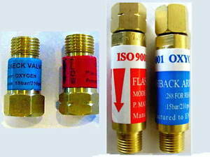 Oxygen/Acetylene FLASHBACK ARRESTOR & CHECK VALVE Sets