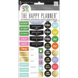 mambi happy planner school college stickers 5 sheet book incl