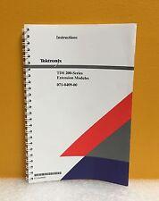 Tektronix 071-0409-00 TDS 200-Series Extension Modules Instruction Manual