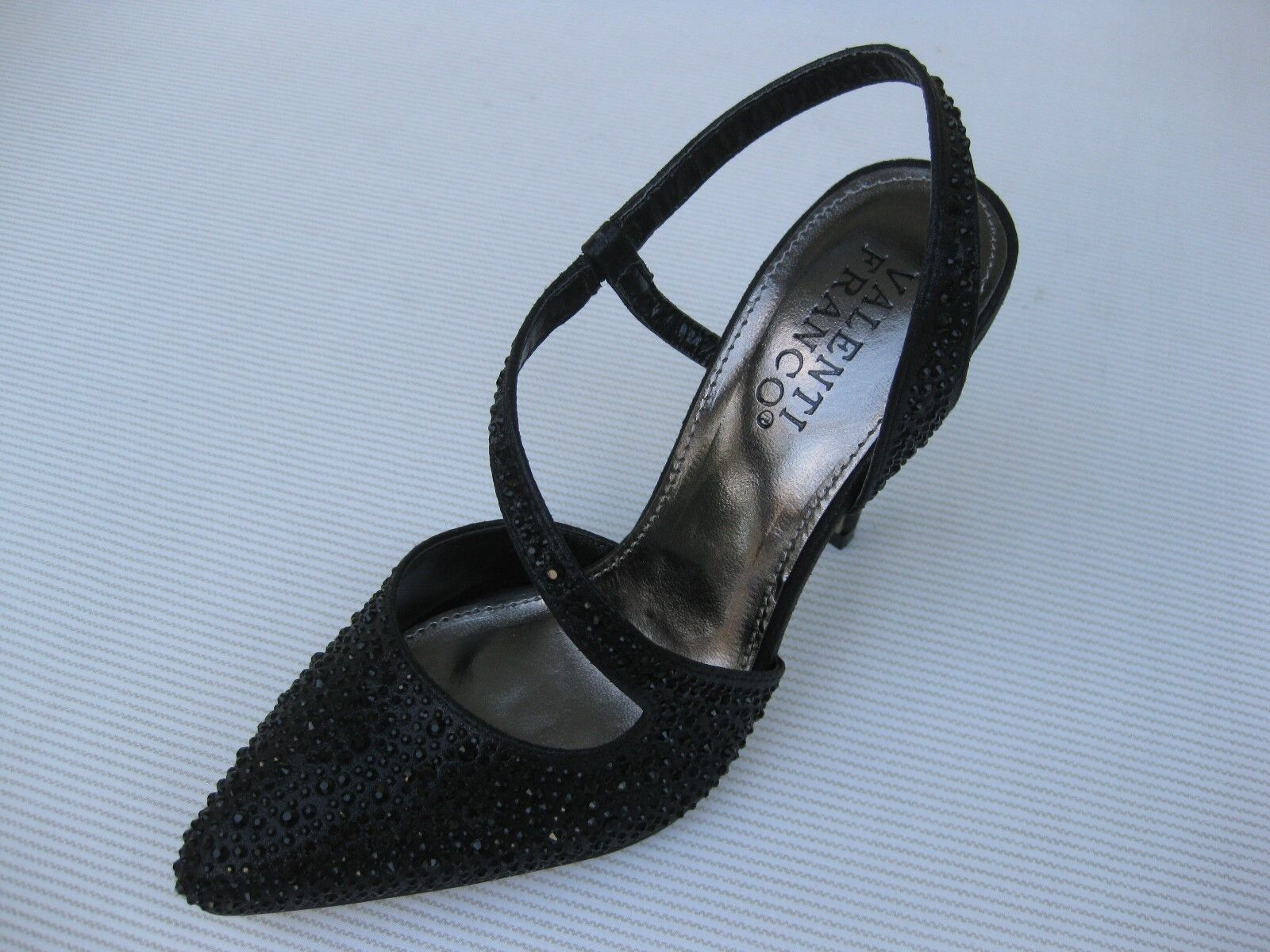 Valenti Franco Sparkle Womens Shoes $60 Moya Black Sparkle Franco Slingback 7 M 47cc2a