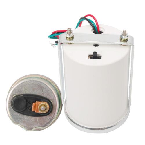 Hiwowsport 2/'/' 52mm Oil Press Pressure Gauge LED 0~100 PSI White Shift Light