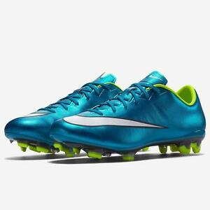 Details about NEW Women s Nike Mercurial Veloce II 2 FG Football Soccer  Cleats - Metallic Blue 70afb4c251
