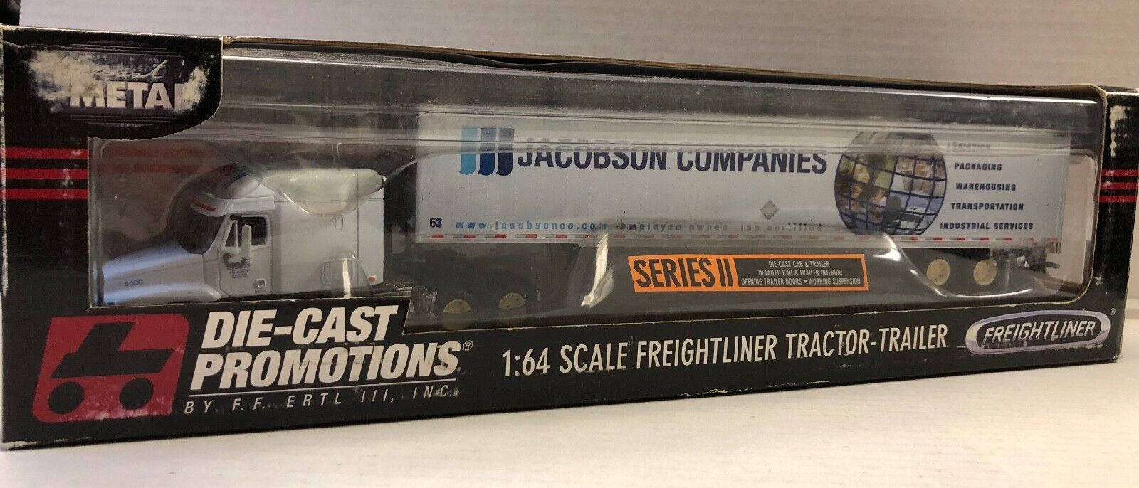 DCP 6600 FREIGHTLINER CENTURY 53 FT (environ 16.15 m) avec remorque Jacobson Companies  30218 1 64