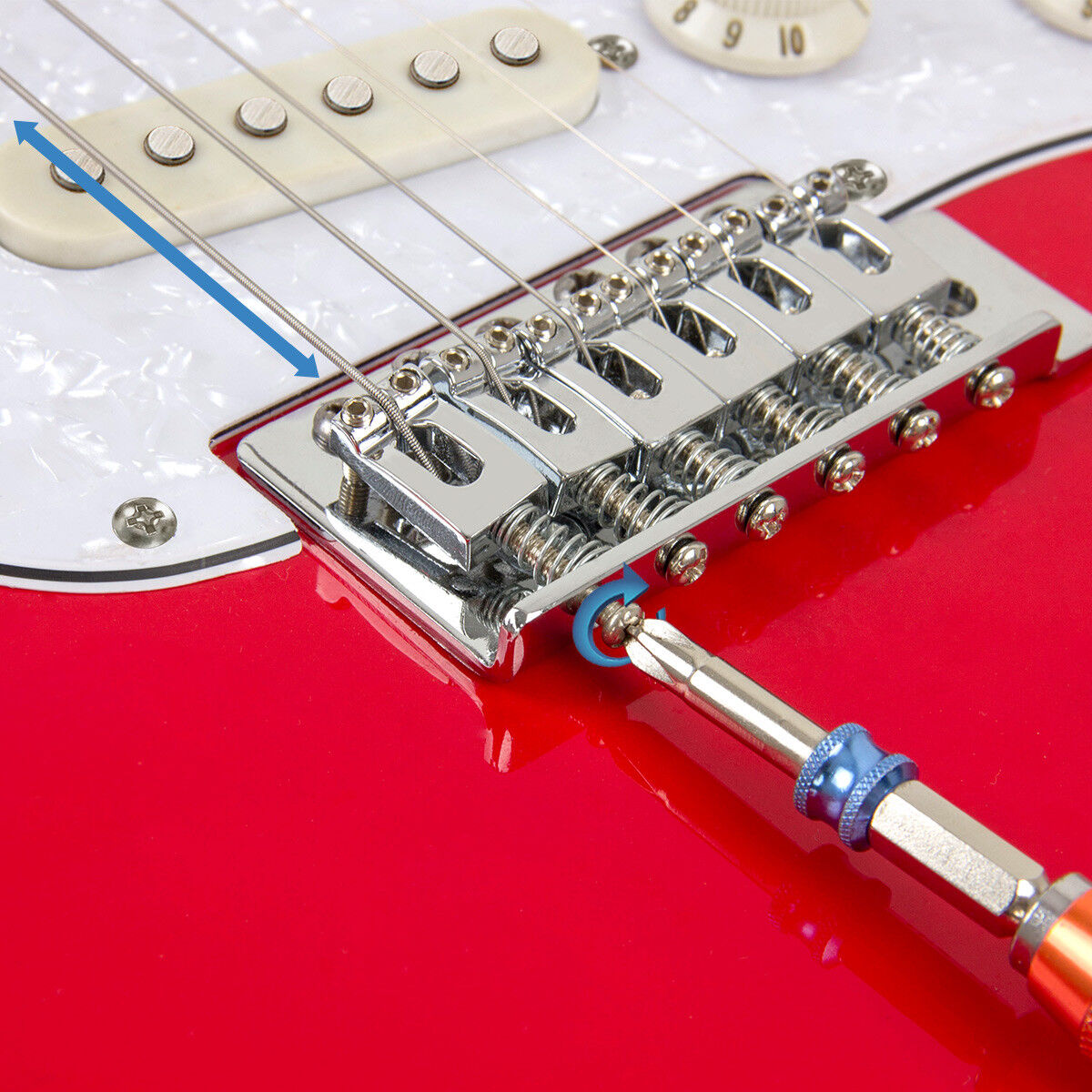 Tremolo Bridge With Whammy Bar For Electric Guitar Parts