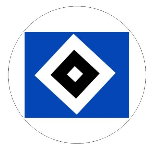STICKER HAMBURGER SV HSV CAR BUMPER DECAL GERMANY BUNDESLIGA NEW SMALL ROUND TOP