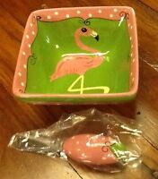 Mainstreet Collection Pink Flamengo Bowl With Spreader