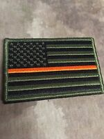 Od Green Thin Orange Line American Flag Patch, Search & Rescue