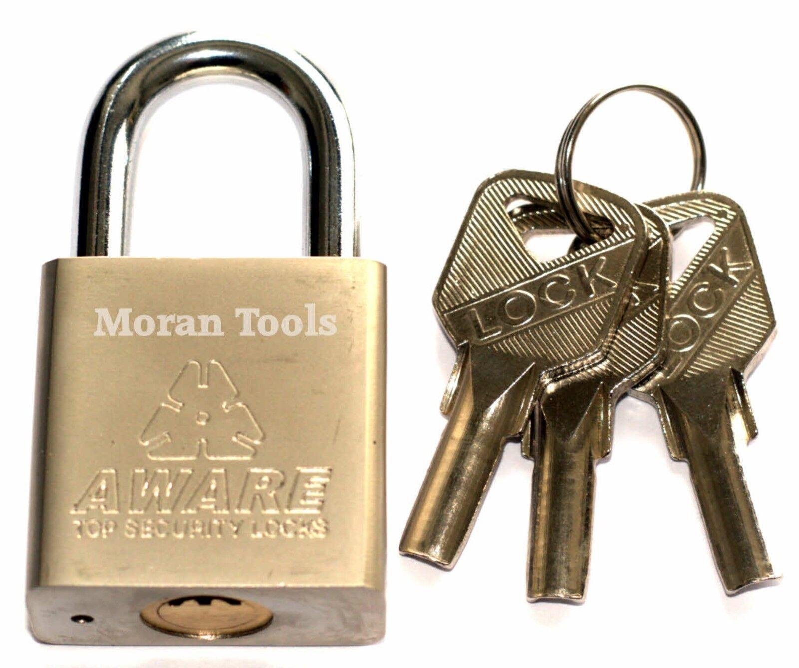 Candado 3 llaves llaves llaves Puerta Cobertizo Garaje de bloqueo de seguridad candados Resistente 6f7b9b