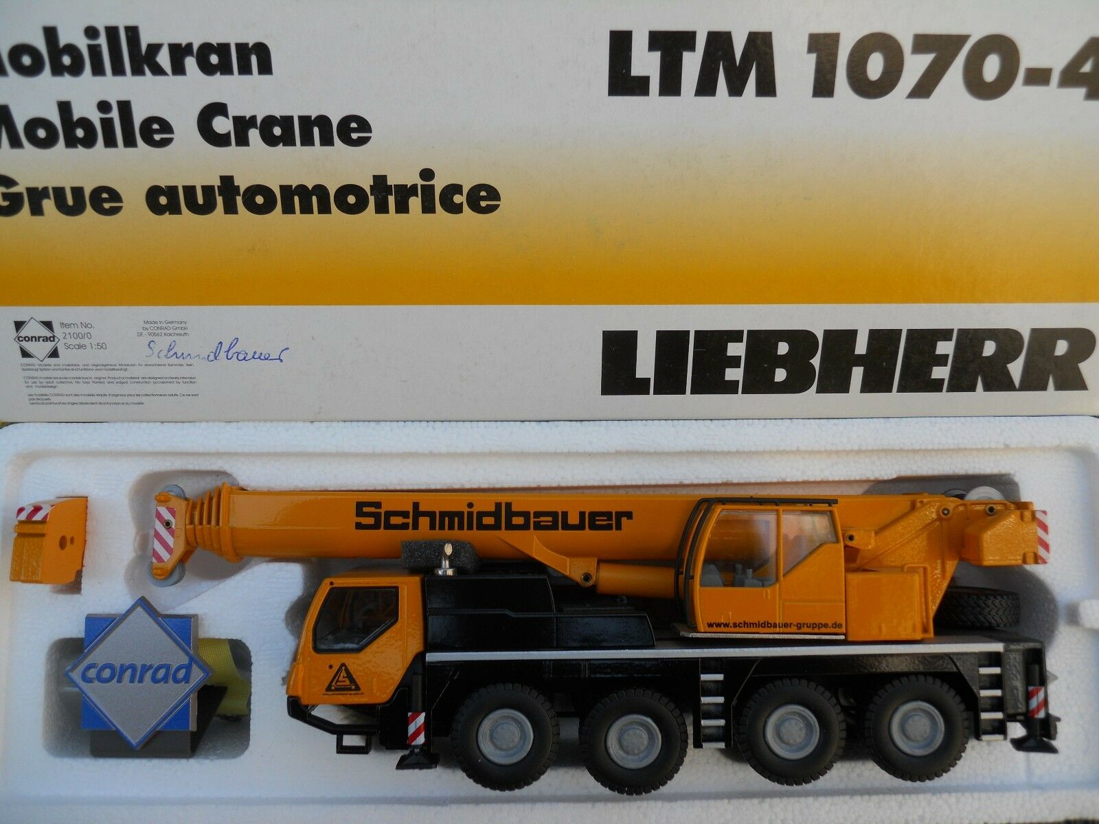 ventas en linea CONRAD 2100 LIEBHERR LTM 1070-4.1   SCHMIDBAUER SCHMIDBAUER SCHMIDBAUER    RARE  MINT IN BOX  promocionales de incentivo