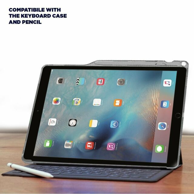 sale retailer 3a13f 0352b Poetic Lumos iPad Pro 12.9 TPU Case Cover Keyboard Compatiblepencil Soft  for 1st