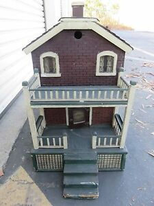 Vintage American Colonial Style Wooden DOLLHOUSE Plug In Single ...