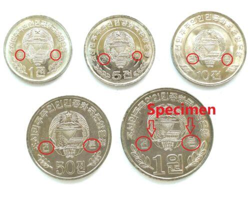 Korea 2009 2002 5 pcs Specimen L3051 Rare New Coins