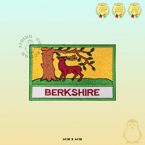 BERKSHIRE-County-Flag-With-Name-Embroidered-Iron-On-Sew-On-Patch-Badge