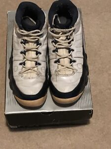 used air jordan 9 retro low white blue pearl men s size 10 ebay rh ebay com