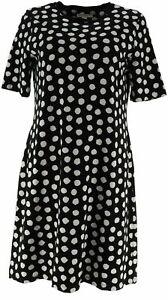 Isaac-Mizrahi-Live-Elbow-Sleeve-T-Shirt-Dress-Black-Dot-Size-1X-A307531
