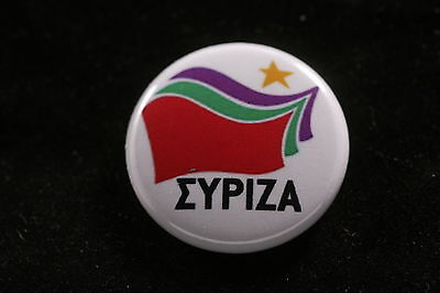 "Greek Greece Coalition Radical Left SYRIZA Anti-Capitalist 1"" Button Badge Pin"